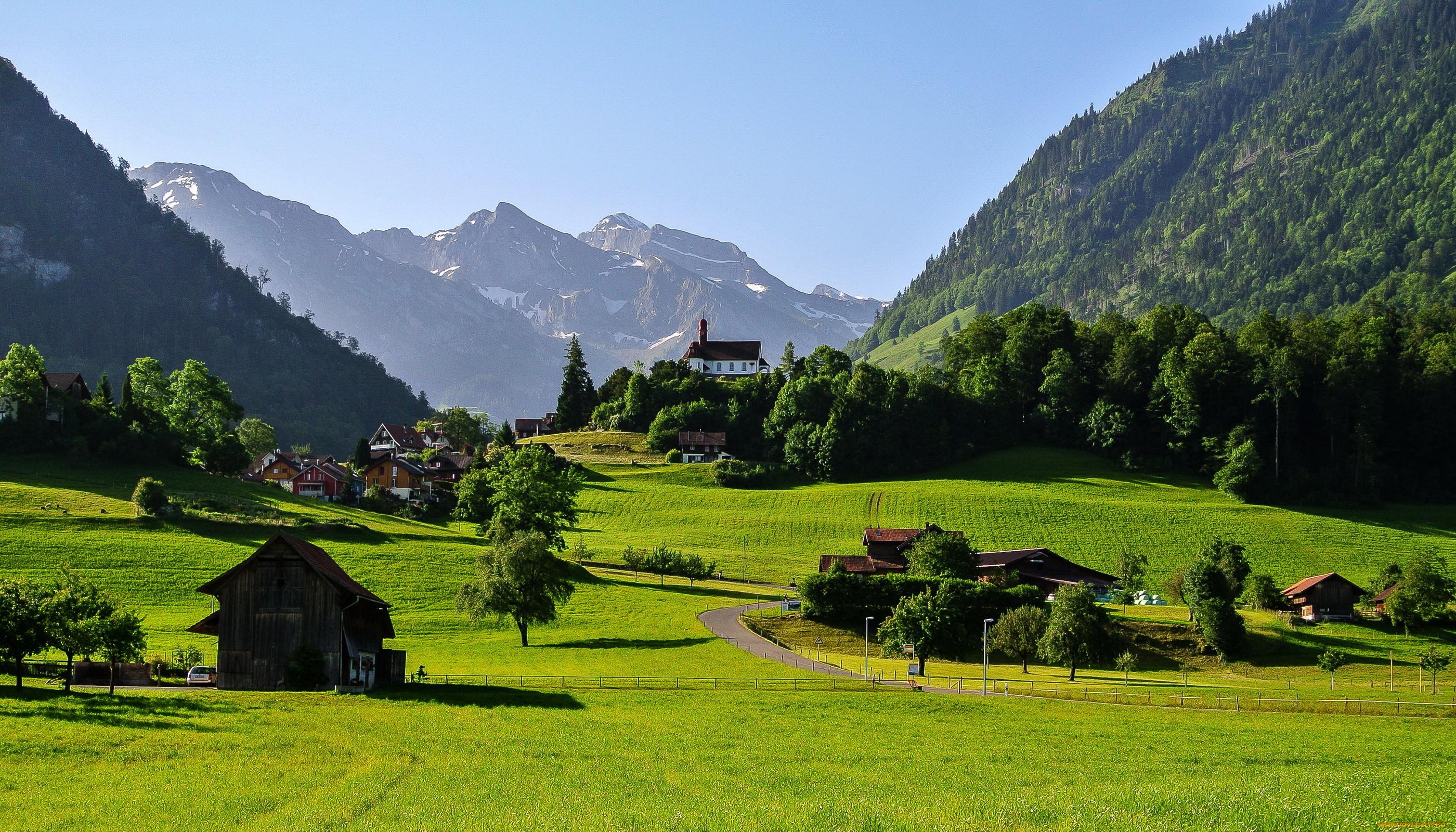 Обои дома, швейцария. Пейзажи foto 13